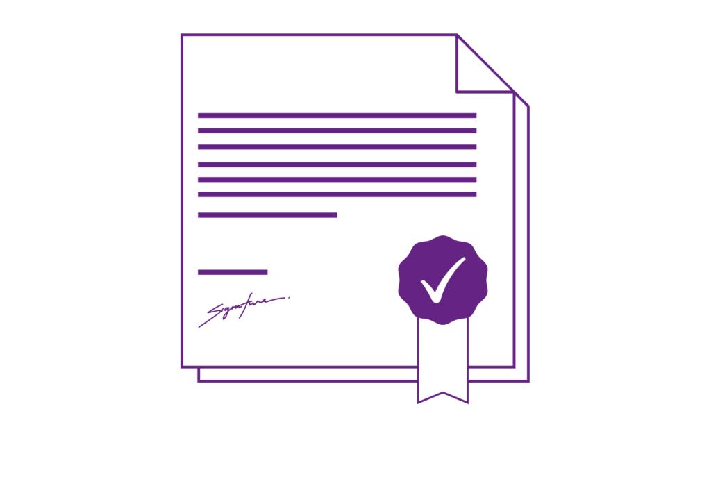 Icon Zertifikat