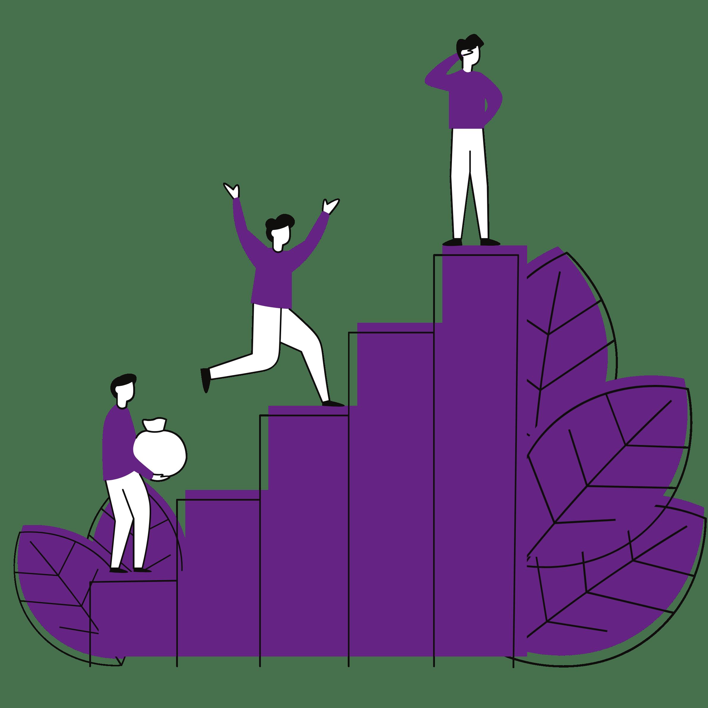 Person steigt Stufen hinauf